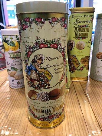 Mix de Biscoitos Italianos, lata decorada com cantuccini, amaretti crocante, almonds cookies, etc - 200g.