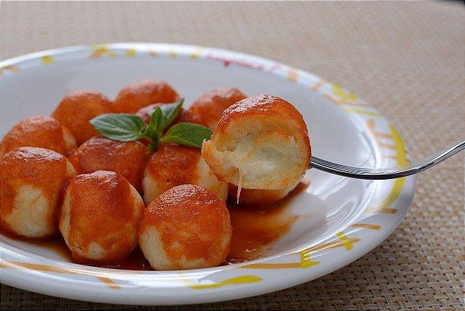 Gnocchi de batata recheado de mussarela, pacote com 500 g,  serve  até 3 pessoas
