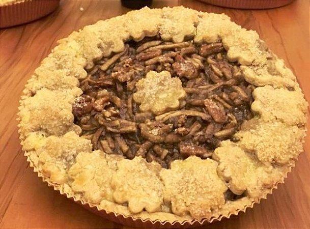 Torta de maça com açúcar demerara , ideal servir quente  480 g  serve 5 fatias
