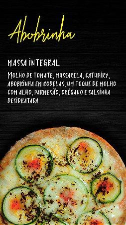 Pizzita de abobrinha , massa integral  , molho de tomate , mussarela , catupiry, abobrinha em rodela e parmesão , 4 un