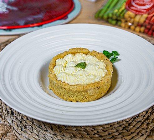 Tortinha de limão siciliano zero açúcar, porção individual.