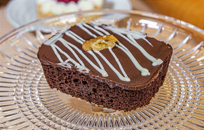Brownie chocolate zero açúcar, porção individual.