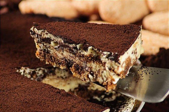 Tiramisu médio 3 porções - o verdadeiro tiramisu com mascarpone, biscoito champagne e cacau.