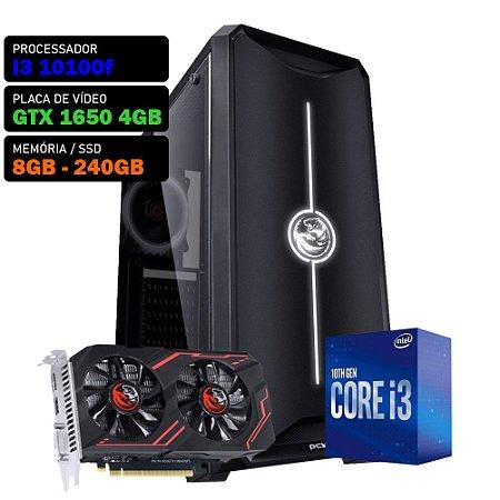COMPUTADOR KADIN GAMER I3 10100F / GTX 1650 4GB / 8GB DDR4 / SSD 240GB / 500W 80+ / NOVA