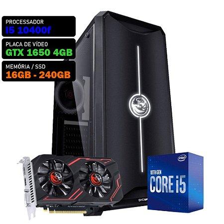 COMPUTADOR KADIN GAMER I5 10400F / GTX 1650 4GB / 16GB DDR4 / SSD 240GB / 500W 80+ / NOVA