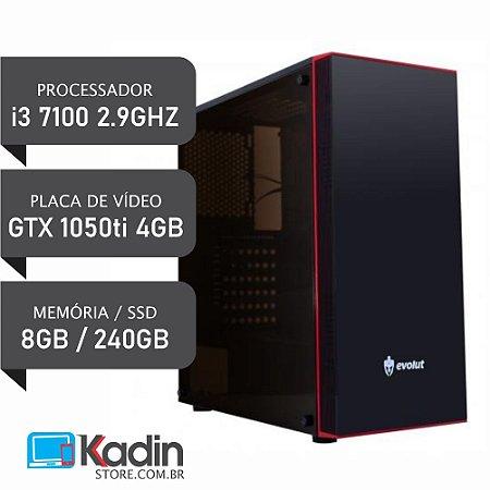 COMPUTADOR I3 7100 2.9GHZ / GTX1050TI 4GB / 8GB DDR4 / HD 1TB