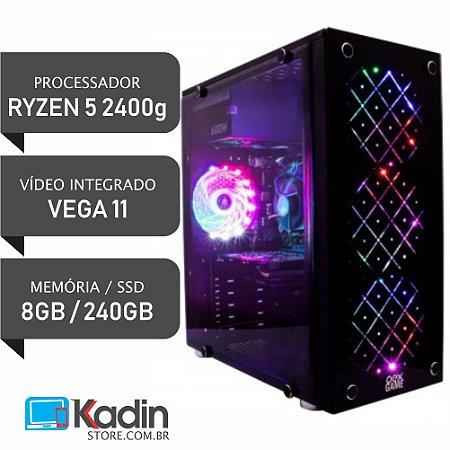 COMPUTADOR RYZEN 5 2400G / VEGA 11 / 8GB DDR4 / SSD 240GB