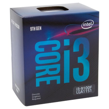 PROCESSADOR INTEL CORE I3 9100f COFFEE LAKE 3.6GHZ 6MB