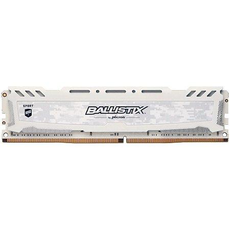 MEMÓRIA 8GB DDR4 2400MHZ BALLISTIX BRANCA