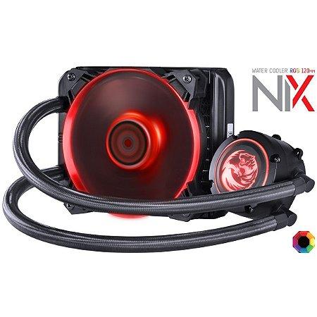 WATER COOLER PCYES NIX 120MM MANGUEIRAS DE NYLON E LED RGB