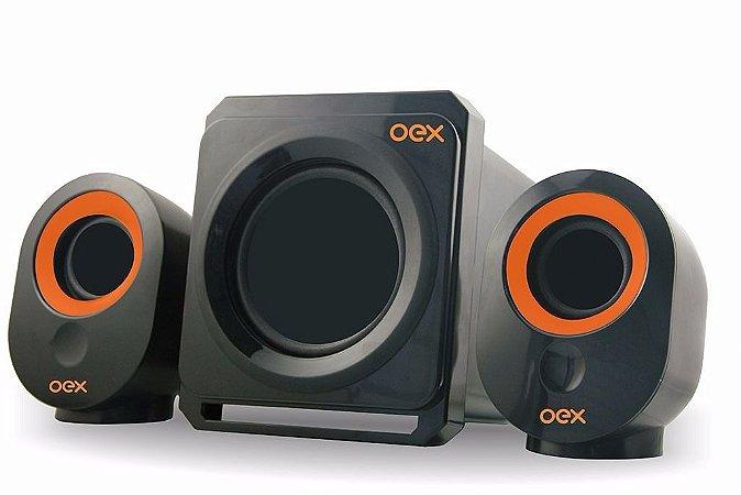 CAIXA DE SOM SPEAKERS BOOSTER SUBWOOFER 30W SK500 OEX