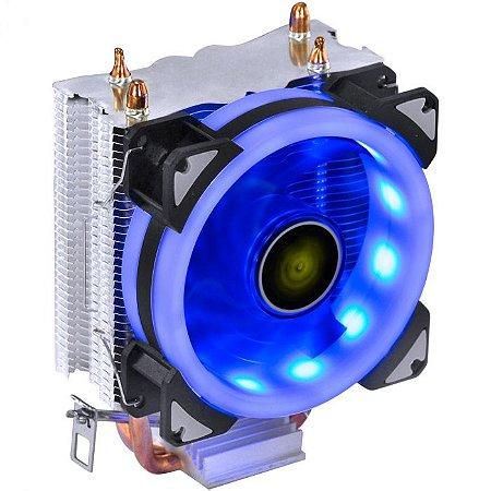 COOLER PARA PROCESSADOR VINIK VX GAMING BLITZAR 90MM LED AZUL  AMD/INTEL