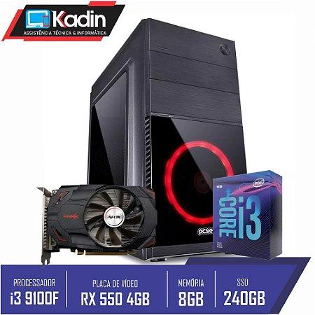 COMPUTADOR KADIN i3 9100F / RX 550 4GB / 8GB DDR4 / SSD 240GB / 500W / MERCURY