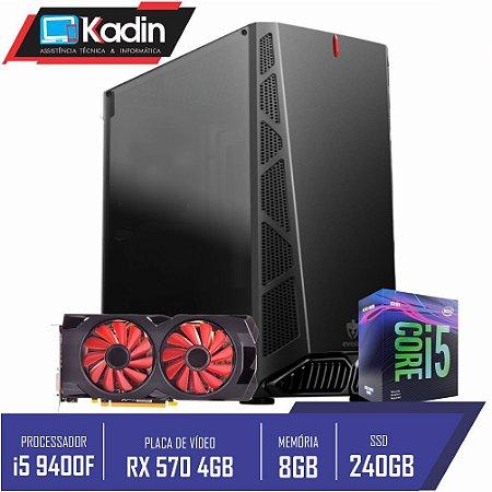 COMPUTADOR KADIN i5 9400F /RX 570GB / 8GB DDR4 / SSD 240GB / 500W 80+ / DANDY