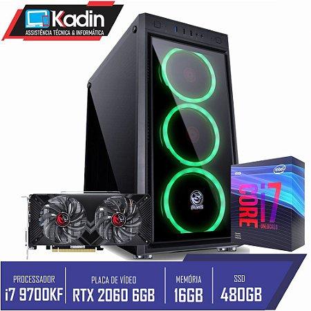 COMPUTADOR KADIN I7 9700KF / RTX 2060 6GB / 16GB DDR4 / SSD 480GB / 650W / WC 120MM / JUPITER