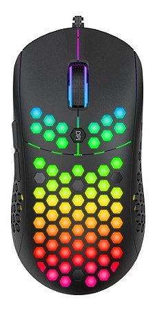 MOUSE GAMER EVOLUT KEPPNI RGB ULTRALEVE USB EG110