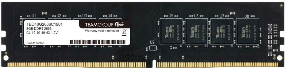 MEMORIA RAM DESKTOP TEAM GROUP 8GB DDR4  2666 ELITE