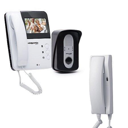 Kit Com 1 Vídeo Porteiro VP3 + 1 Extensão de áudio