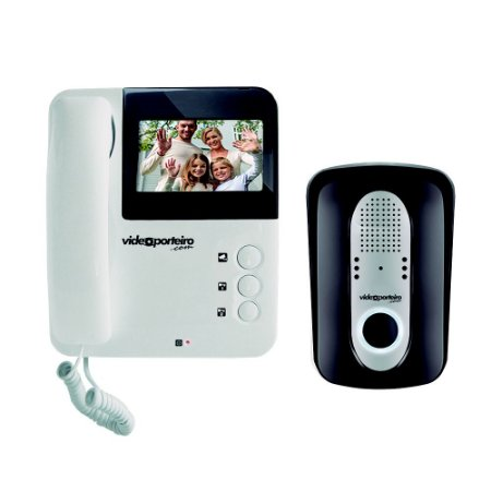 Vídeo Porteiro Interfone Câmera Visão Noturna Tela Lcd - Vp6