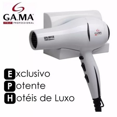Secador Parede Gama Luxo Spa Dryer Turbo Suporte Hotel 2000w