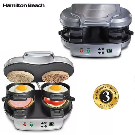Sanduicheira E Grill Multi Uso Hamilton Beach 4 Em 1 Premium