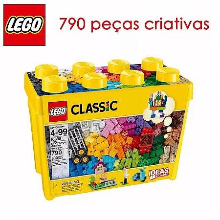 Mega Lego Blocos Montar Caixa Grande Com 790 Peças Criativas