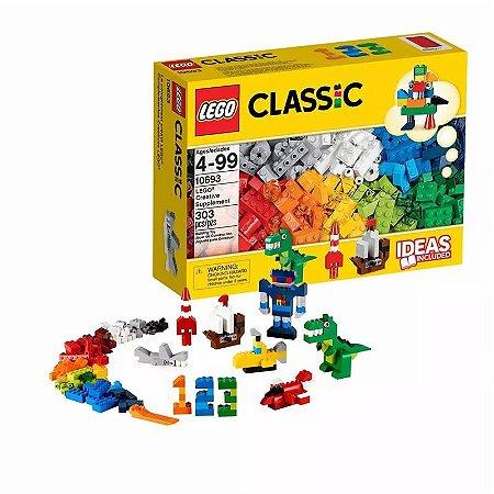 Lego Blocos De Montar Suplemento Criativo 303 Peças 20 Cores
