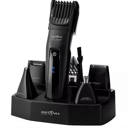 Kit Barbeador Aparador De Pelos Britânia Multi Groom 7 Em 1