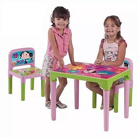 Mesa Com 2 Cadeiras Infantil Show Da Luna Mesinha Escolar
