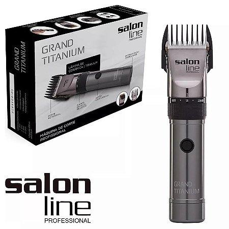 Máquina De Cortar Cabelo Acabamento Salon Line Grand Titanium