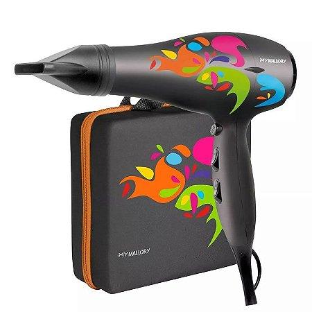 Secador De Cabelo Mallory Colors Profissional 2000w +maleta