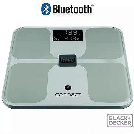 Balança Bluetooth Bioimpedância Black Decker 150 Kg