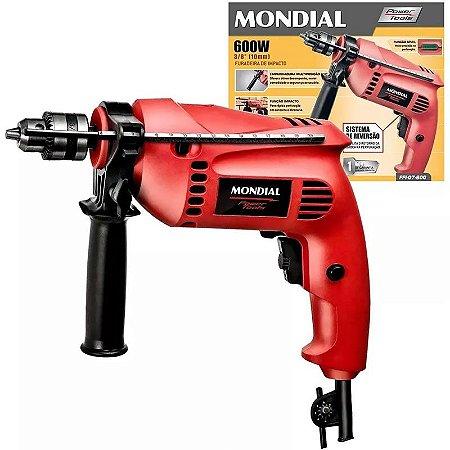 Furadeira De Impacto Mondial 600w 3/8 Pro Power Tools 2800rp
