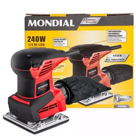 Lixadeira Mondial Orbital 240w 1/4 Power Tools Flo-02 13.000