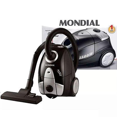 Aspirador De Pó Mondial Zion Black 1500w Filtro Lavável