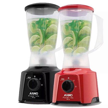 Liquidificador Arno 2l Power Mix 550w Lâminas Inox Zelkrom