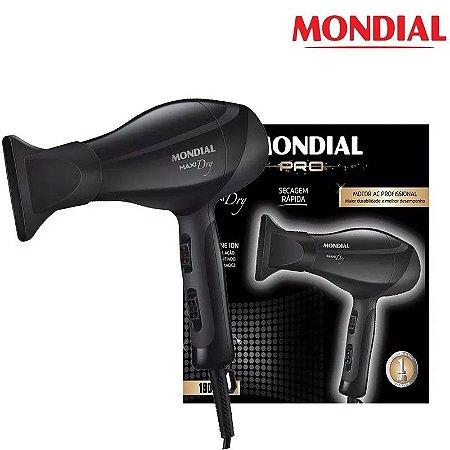 Secador De Cabelos Profissional Motor Ac Mondial 2000w Max Dry