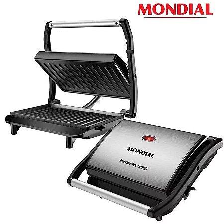 Grill Sanduicheira Mondial Master Press 1000w Inox Antiaderente