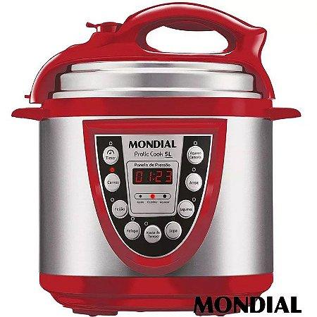 Panela De Pressão Elétrica Digital Mondial Pratic Cook 5 L