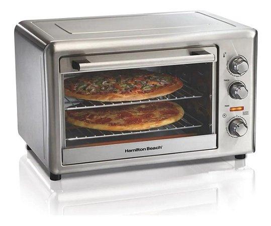Forno Com Convecção 2 Pizzas 30 Cm Por Vez Hamilton Beach