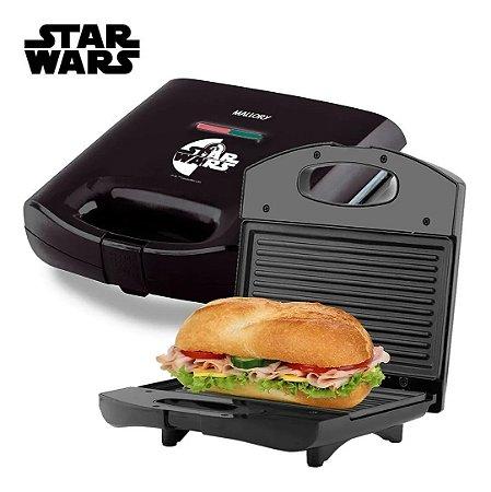Grill Sanduicheira Star Wars Antiaderente Mallory Inox 750w