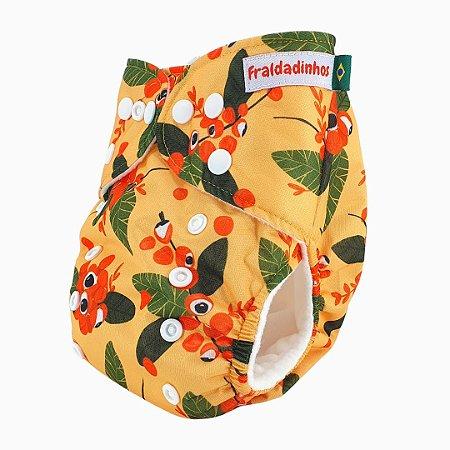 Fralda ecológica - Amarelo - Guaraná