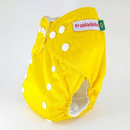 Fralda ecológica - Lisa - Amarela