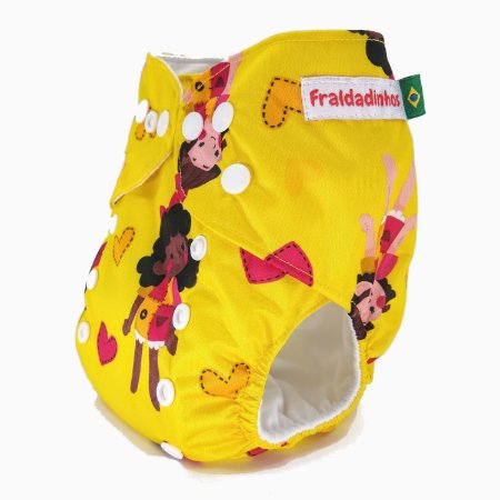 Fralda ecológica - Amarelo - Boneca de Pano