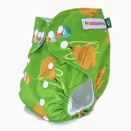 Fralda ecológica - Verde - Pião