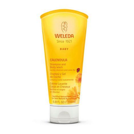 Shampoo & Body Wash a base de calêndula - Produto natural - Weleda