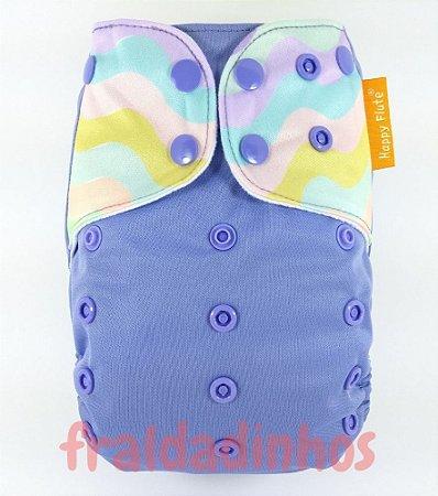 Fralda + Absorvente - Tema lilás - 2 - Happyflute