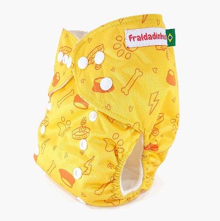 Fralda ecológica - Amarelo - Pets