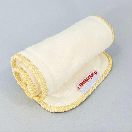 Absorvente para fralda ecológica - melton 3 camadas - Com toque seco