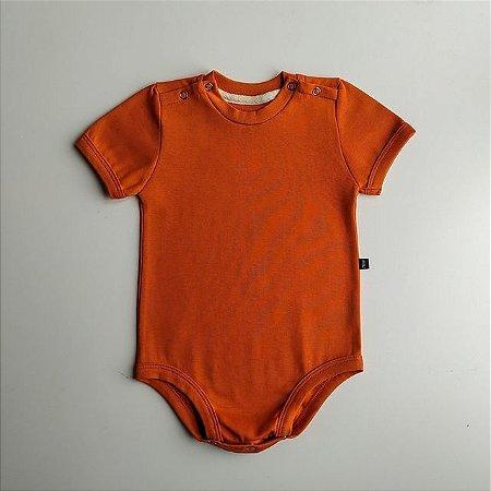 Body para bebê -  Manga curta - Brick